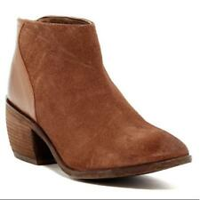 NEW CHARLES DAVID $150 SUEDE/LEATHER ANKLE BOOTIES IN BROWN SIZE 4M