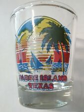 PARDE ISLAND TEXAS BEACH LOGO SHOT GLASS GREAT FOR ANY COLLECTION!