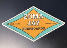 Genuine Zuma Jay Surfboard Malibu Southern California Surf Shop Surfing Sticker