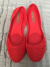 melissa campana red orange jelly flats