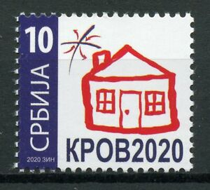 Serbia Stamps 2020 MNH KPOB Roof for Refugees 1v Set
