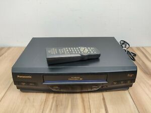 Panasonic PV-V4020 Omnivision VCR VHS Player Recorder w/ Remote - Tested, Works