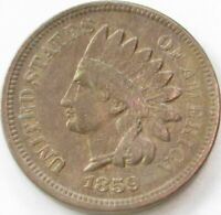1859 Indian Head Penny / Small Cent in SAFLIP® - XF- (VF+++)