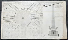 1772 Act of Parliament Antique Map, Plan of St Georges Circus, Southwark London
