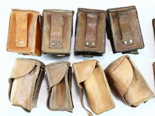 YUGOSLAVIAN ARMY SURPLUS ISSUE SINGLE MAUSER MAGAZINE LEATHER WEBBING POUCH,