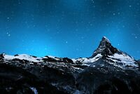 A1 | Matterhorn Mountain Poster Art Print 60 x 90cm 180gsm Night Sky Gift #8581