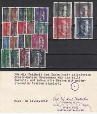 Österreich 676-692, 693 I B, 694 II B, 695 II A, 696 I A **, signiert