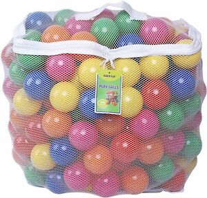 ApriLin Ball Pit Balls for Kids Warm Color Ocean Ball of 2.15 Inch Pack of 100 BPA Free Plastic Toy Balls for Babies Children Birthday Parties Events Playground Games Pool White Warm-Blue