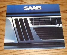 Original 1982 Saab Full Line Foldout Sales Brochure 82 900 900S Turbo