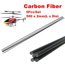 5Pcs 2mm Diameter x 500mm Carbon Fiber Bar Rods Tool For RC Airplane Matte Pole