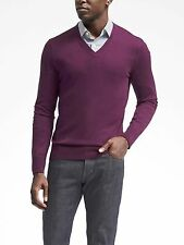 NEW Banana Republic Mens Luxury V Neck Pullover Sweater Silk Cashmere S M XL NWT