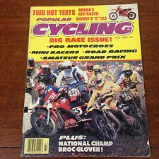 POPULAR CYCLING JULY 78 CR250 AMATEUR GP JEFF WARD BOB HANNAH VINTAGE MOTOCROSS