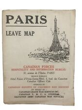 Ww Ii Canadian Forces Paris Leave Map