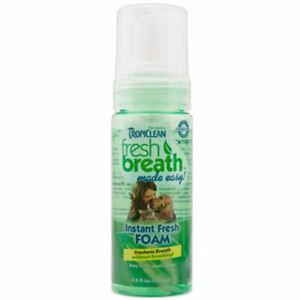 TROPICLEAN Fresh Breath Clean Mint Foam 4.5 oz Dog Canine Cats Bad Breath