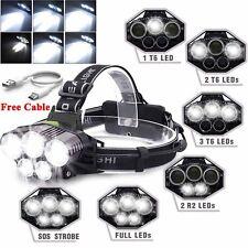 90000LM 5X XM-L T6 LED Headlamp Head Light Flashlight Rechargeable Torch Lamp