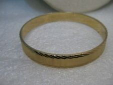 "Vintage  Monet Diamond Cut Bangle  Bracelet, 1970's, 7.5"", 10mm"