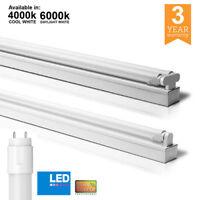 2ft 4ft 5ft 6ft LED T8 Batten Fitting Single / Double with LED tube office 240v