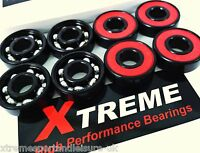 8 x Xtreme 608 ABEC 9 REDS HIGH PERFORMANCE SWISS BEARINGS SKATEBOARD SCOOTER