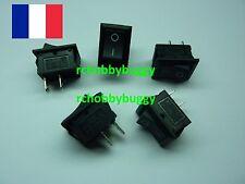 5 Interrupteur à bascule 250V 6A,ON OFF,Noir,2 Position,switch,banc de démarrage