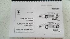 FERRARI 348 TB/TS parti manuale 1990 RISTAMPA Pettine vincolato