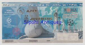 AJAX - JUVENTUS 1996 CHAMPIONS LEAGUE FINAL MATCH SOCCER FOOTBALL TICKET