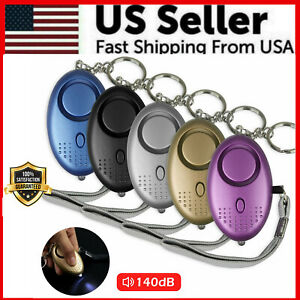 Safe Sound Personal Alarm Keychain With LED Light 140DB Emergency Women Defense