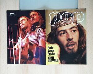 Pop Zeitschrift NR. 11 / 1972 Mit Farb Super Poster John Mayall Neuwertig