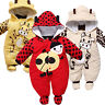 Newborn Baby Infant Warm Romper Hooded  Animal Jumpsuit Bodysuit Outfit Clothes