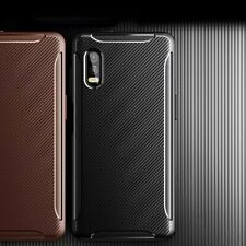 For Samsung Galaxy Xcover Pro TPU Shockproof Carbon Fiber Luxury Armor Silicone