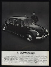 1971 VOLKSWAGEN BEETLE - The $35,000 VW Limo - Limousine - Chauffeur VINTAGE AD