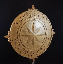 World Showcase Medallion Inspired Sign / Plaque Prop Replica - Hammered Gold