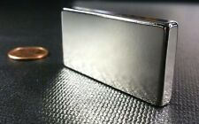 "1 (One) Large Neodymium N52 Block Magnet Super Strong Rare Earth 2"" x 1"" x 1/4"""