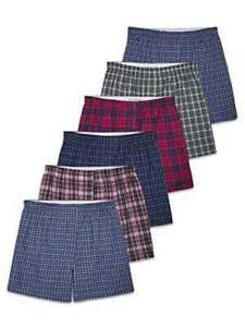 Fruit of the Loom Men's Tag-Free, Woven - 6 Pack - Assorted Colors, Size Medium