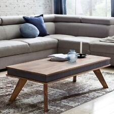 Coffee table solid wood table country house leatherette rustic Sheesham nature