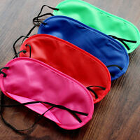 Soft Pure Silk Sleep Eye Mask Padded Shade Cover Travel Relax Aid Blindfold New