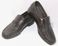 NearNew_FLORSHEIM Riva Moc-Toe Bit Loafers_#17088 02_Dark Brown_Size 8 1/2 D