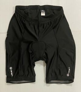 "Men's Canari Padded Bike Cycling Shorts Size L (fits up to 36"" Waist) Black"