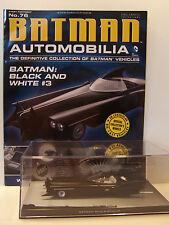 Batman Automobilia Car Collection 76 Black and White 3 Batmobile with magazine