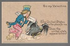 """[51862] 1906 POSTCARD """"TO MY VALENTINE THE UNITED STATES IS THE PLACE FOR ME"""""""