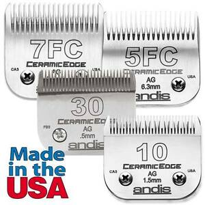 Ceramic Edge 4 Piece Blade Kit Set Includes 30 10 7F 5F - For Grooming Clippers