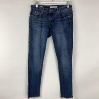 Vigvoss Jeans Women's Size 27 Manhattan Skinny Low Rise Medium Wash Raw Hem