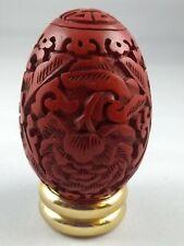 Cinnabar style egg - Franklin Mint Treasury of Eggs