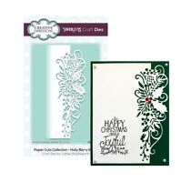 Christmas Metal Die Cut Holly Berry Edger Cutting Dies CEDPC1049