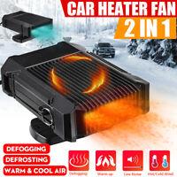 2 in 1 Car Truck Heater 12V Heating Cool Fan Dryer Window Demister Defroster