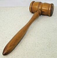 Antique Vintage Masonic Gavel Turned Wooden Treen Auctioneer Judge 9 inches