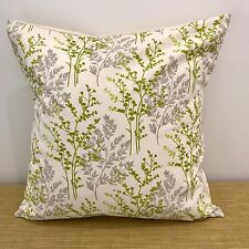 "18"" (45cm) GREEN & CREAM Shabby Chic Country Cushion Cover. Made Australia"