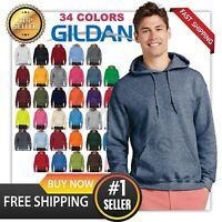 man's GILDAN Heavy Fleece BLANK  Hooded Sweatshirt Hoodie G18500  S-5XL