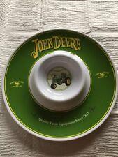 "John Deer Chip & Dip Serving Platter 13 "" 100% Melamine Ware"