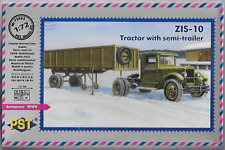 Russian ZiS-10 Tractor with Semi-Trailer 1/72 Scale PST 72063 (free shipping)