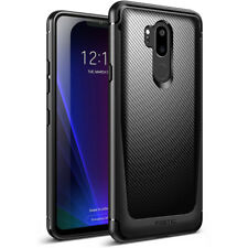 For LG G7 ThinQ Case Poetic Karbon Slim Fit TPU Cover Carbon Fiber Texture Black